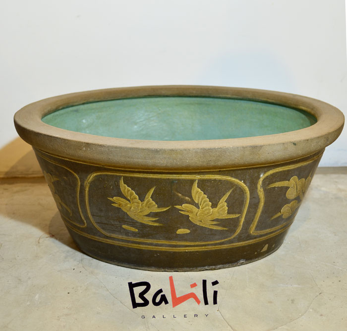 Oval Chinese Ceramic Baby Bathtub (Small) | Balili Gallery